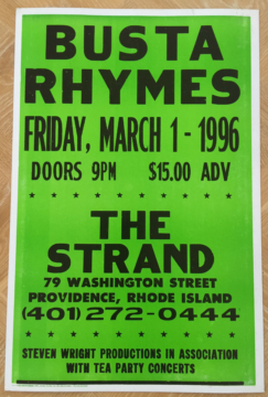 Busta Rhymes at The Strand | Image via Freshly Baked Collectibles