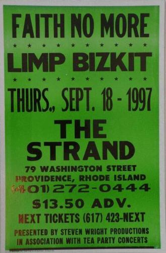 Faith No More Limp Bizkit at The Strand | Image via eBay