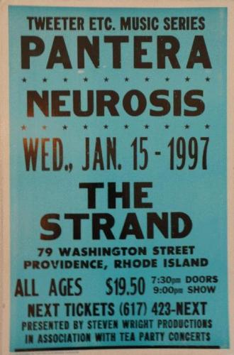 Pantera Neurosis at The Strand | Image Via Ebay