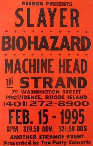 Slayer Biohazard Machine Head at The Strand | Image via Pinterest