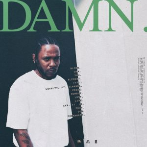 "Back cover for kendrick Lamar's ""DAMN."""