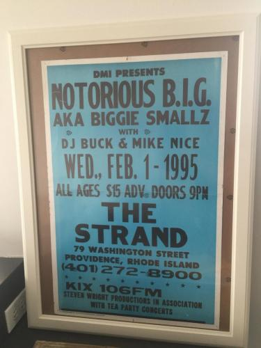 Notorious B.I.G. at The Strand | Image via Freshly Baked Collectibles