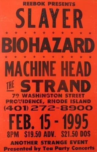 Slayer Biohazard Machine Head at The Strand | Image via Pinterest